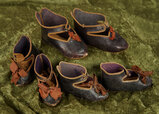 Three pairs of leather shoes for Bebes Jumeau. $600/800