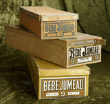 Three French boxes for Bebes Jumeau. $500/700
