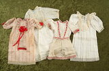 Four original store chemises for French bebe or German child dolls. $600/800