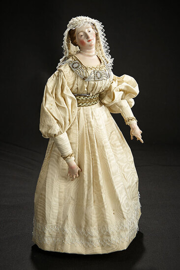 Beautiful Neapolitan Court Lady in Elegant Costume 1500/1700