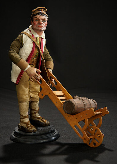 Neapolitan Village Man with Wheeled Cart 1400/1800