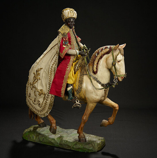 Neapolitan Balthazar, King of Arabia, in Splendid Robes, on Horseback 10,000/12,000