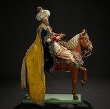 Neapolitan Caspar, King of Tarsus, in Royal Robes on Horse 10,000/12,000