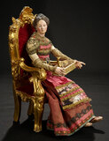 Neapolitan Lady of the Court in Elaborate Silk Costume 1200/1500