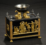 Cast Iron Chest with Embossed Brass Designs 700/900