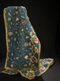 Pair, Superb Early Embroidered Wall Hangings 1200/1800