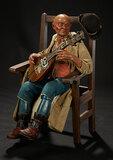 Neapolitan Bald Man with Mandolin Attributed to Francesco Celebrano 4800/5600
