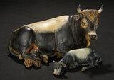 Neapolitan Lying Ox Attributed to Francesco Gallo  1100/1300