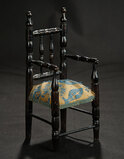 Wooden Chair with Tapestry Seat 200/300