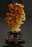 Carved Alabaster Floral Arrangement in Vase 300/400