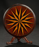 Continental Mahogany Tilt-Top Table with Marquetry Inlay 500/700