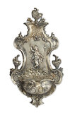 Silvered Wall Fountain with Figural Design 300/400
