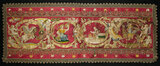 Pair, 18th Century Embroidered Silk Panels 800/1100