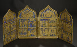 Early Cast Brass Four-Panel Screen  500/700
