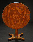 Continental Chestnut Tilt-Top Table with Inlay Marquetry 500/700