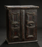 Early Continental Wooden Cabinet with Paneled Doors 800/1200