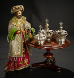Continental Wax King with Elaborate Costume and Crown 1100/1300