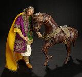 Neapolitan Prince in Rich Metallic-Threaded Robes 1800/2100