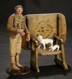 Neapolitan Young Lad with Rare Table-Chair  600/800
