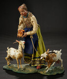 Neapolitan Peasant Girl with Two Carved Wooden Goats 1100/1300
