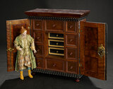 Petite Neapolitan Lady with Sculpted Topknot and Royal Court Costume 1100/1300