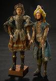 Two Continental Wax Guardsmen in Original Costumes 600/900