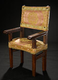 Wooden Chair with Silk Brocade Upholstery 300/400