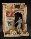 Neapolitan Villager with Dog with Architectural Facade 800/1100