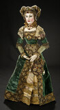 Continental Wooden Doll with Articulated Body and Royal Robes 3000/4000