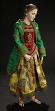 Neapolitan Wooden Lady with Sculpted Coiffure and Court Robes 2500/3500