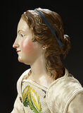 Neapolitan Lady with Sculpted Flowing Long Hair 2200/2700