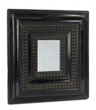 Early Ebony Wooden Mirror with Beaded Carving 400/500