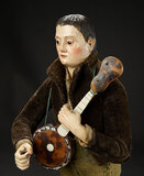 Rare Early Neapolitan Lad with Tortoise Shell Banjo 2200/2800