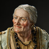 Neapolitan Grey-Haired Elderly Woman Attributed to Lorenzo Mosca 4500/5500