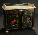Continental Wooden Cabinet with Painted Floral Designs 400/500