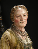 Neapolitan Aristocratic Lady with Silver Jewelry 2400/3200