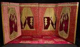 Four Gold Thread and Velvet Wall Panels 800/1100