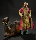 Neapolitan Seated Camel with Original Harness 1200/1500