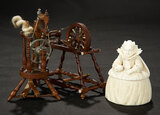 Two Rare Miniature Spinning Wheels 1100/1500