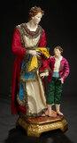 Rare Neapolitan Mother and Child on Original Gilt Base 1800/2500