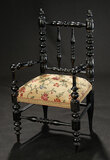 Continental Wooden Spindled Arm Chair 400/500