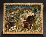 Continental Miniature Shadowbox Depicting Nativity Scene 500/700
