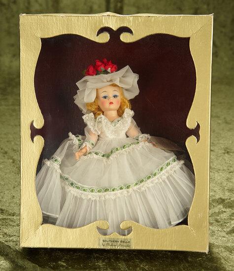 "10"" Vintage Madame Alexander Cissette Portrette of Southern Belle in rare window box."