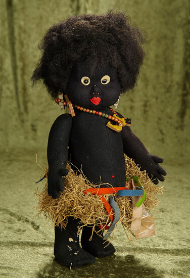 """15"""" Very rare and early African Dancer, Series 112 by Lenci."""