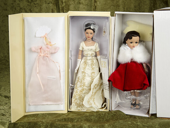 """10"""" Pair of Robert Tonner dolls 2013 UFDC """"A Capitol Affair"""" Kitty Collier and Miss Revlon."""