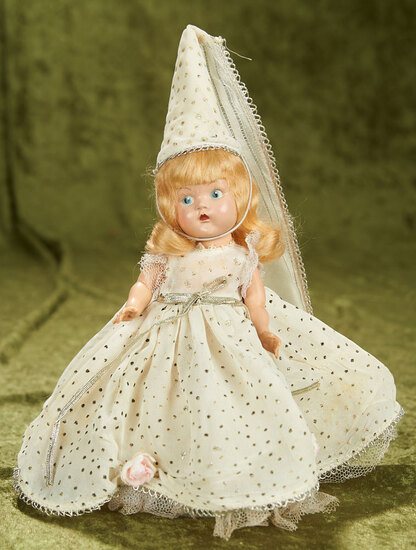 """8"""" Painted Eye Ginny as """"Cinderella"""" in silver dotted ensemble  $300/400"""