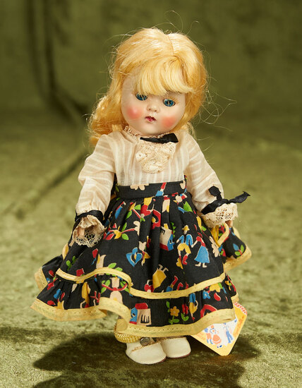 """8"""" Painted lash Ginny as """"Kitty"""" from Square Dancers Series, Rare Tag. $400/500"""