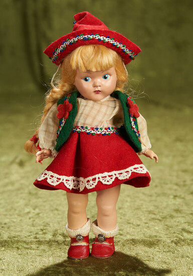 """8"""" Painted eye Ginny as """"Steffie"""" from Brothers and Sisters series, 1950. $300/400"""