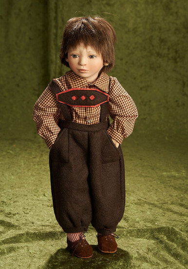 "15"" American felt artist doll ""Brent"" by Maggie Iacono, 1993. $600/800"