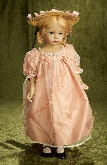 """20"""" Wax portrait child """"Baby"""" by Brigitte Deval, 1990. $900/1100"""